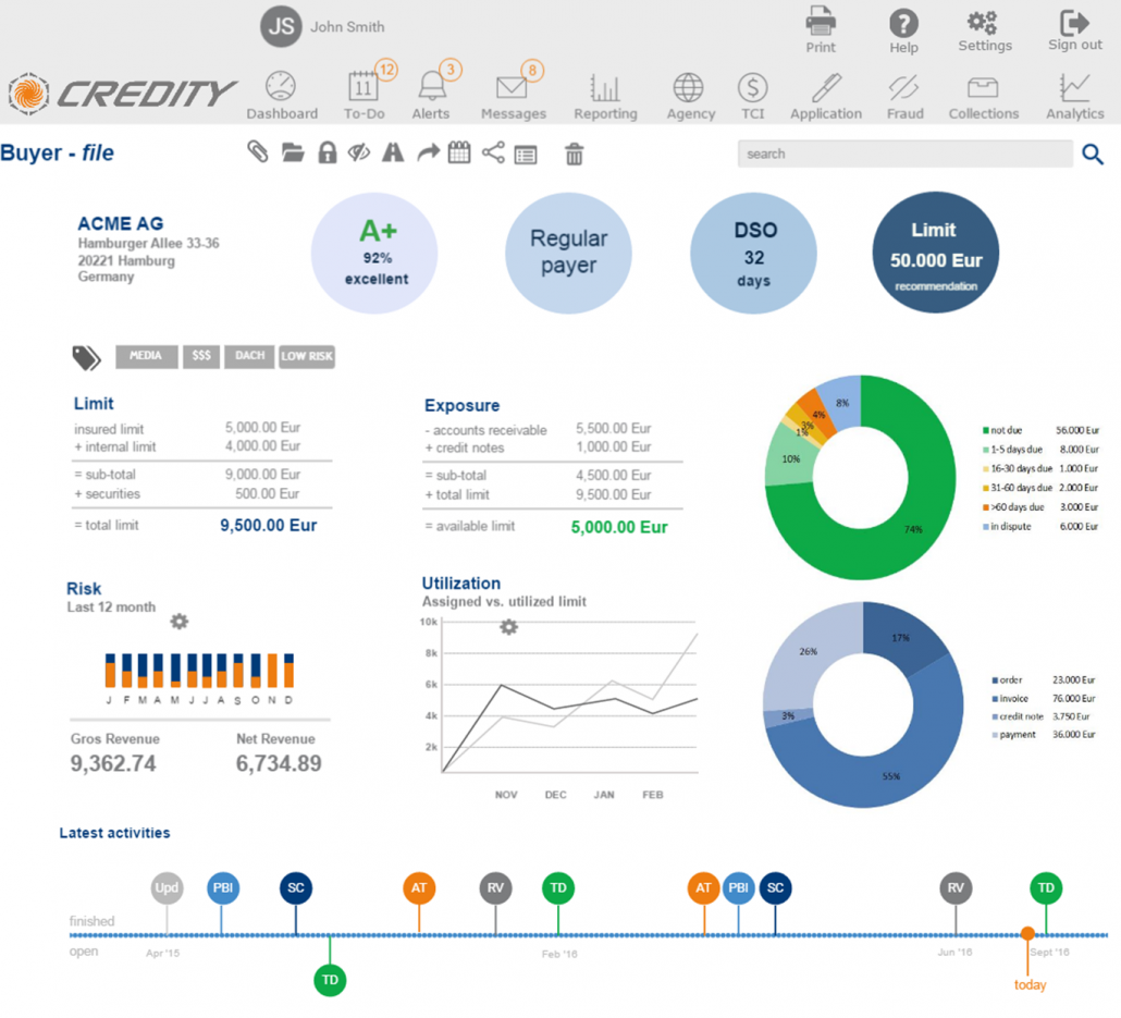 Enhance your Credit Management with CREDITY